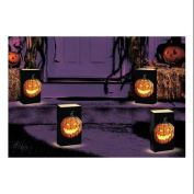 Club Pack of 24 Jack O'Lantern Design Halloween Luminaria Bags 28cm