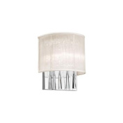 Dainolite JOS72-W-PC-117 2 Light Crystal Wall Sconce with Oyster Shade - Polished Chrome