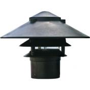 Dabmar Lighting Cast Aluminium Three Tier Pagoda Light with 3.00 Base