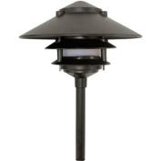 Dabmar Lighting Cast Aluminium Three Tier Pagoda Light with 0.50 Base