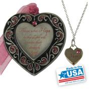Gloria Duchin Hope Ornament and Necklace Set