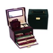 Budd Leather Ladies Classic Jewellery Box Travel Case