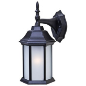 Acclaim Lighting 5182BK/FR Wall Sconces , Outdoor Lighting, Matte Black / Frosted Glass