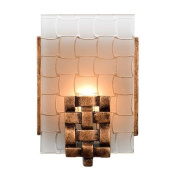Varaluz 180B01 Wall Sconces, Indoor Lighting, Blackened Copper With Frosted Plate Glass Shade