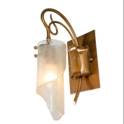 Varaluz 126B01HO Wall Sconces, Indoor Lighting, Hammered Ore With Brown Tinted Ice Glass Shade