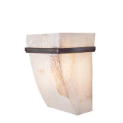 Varaluz 178K01A Wall Sconces, Indoor Lighting, Brilliant Mojave with Kabebe Shell Shade