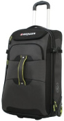 Wenger Terrian Crossing 60cm rolling upright duffle bag, Grey w/ Lime