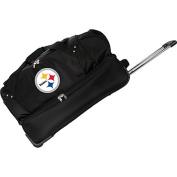 Denco Sports Luggage NFL Pittsburgh Steelers 70cm Drop Bottom Wheeled Duffel Bag