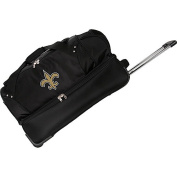 Denco Sports Luggage NFL New Orleans Saints 70cm Drop Bottom Wheeled Duffel Bag