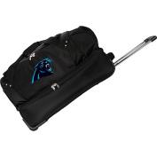Denco Sports Luggage NFL Carolina Panthers 70cm Drop Bottom Wheeled Duffel Bag