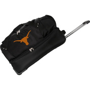 Denco Sports Luggage NCAA University of Texas Longhorns 70cm Drop Bottom Wheeled Duffel Bag