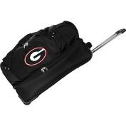Denco Sports Luggage NCAA University of Georgia Bulldogs 70cm Drop Bottom Wheeled Duffel Bag