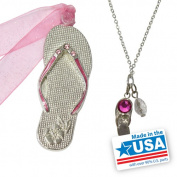 Gloria Duchin Flip Flop Ornament and Pendant Set