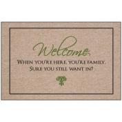 Welcome - You are Family Indoor/Outdoor Doormat