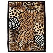 DonnieAnn Company Skinz 74 Mixed Animal Skin Prints Patchwork Design Rug