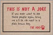 Not a Joke-The Dog Indoor/Outdoor Doormat