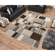 Sonoma Modern Woven Viscose Rug, Grey Multi