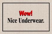 Wow! Nice Underwear Indoor/Outdoor Doormat