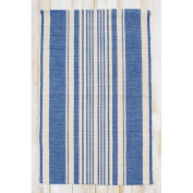 CLM Boothbay Blue/Natural Stripe Rug