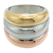 Metro Jewellery Stainless Steel Ring with Gold and Rose Ion Plating