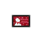 Magnet Works, Ltd. Red Snowman Mat Mate
