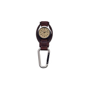 Dakota Watches Leather Hanger, Cream Dial, Tan Leather, Silver Carabineer