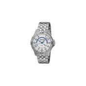 Wenger Mens Squadron GMT Swiss Watch w/ white dial, bracelet
