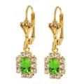Stunning Green Colour CZ Cubic Zirconia Dangle Earrings