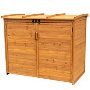 Leisure Season RSS2001L Large Horizontal Refuse Storage Shed, Medium Brown