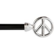Kenney Manufacturing Co. Peace 1.6cm Decorative Drapery Rod, Chrome