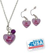 "Gloria Duchin Candy Heart ""Be Mine"" Pendant and Earrings Set"