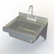 Aero Manufacturing NSF 43cm x 38cm Single Wall Mounted Hand Sink with Faucet