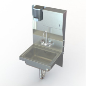 Aero Manufacturing NSF 43cm x 38cm Single Wall Mount Utility Hand Sink with Faucet