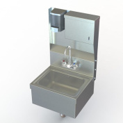 Aero Manufacturing NSF 43cm x 38cm Single Hand Wash Sink with Faucet