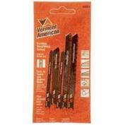 Vermont 30034 Jig Saw Blade Set, 5 Pieces, 5.1cm - 1.9cm , 7.6cm - 1.6cm L X 13cm - 1.9cm H