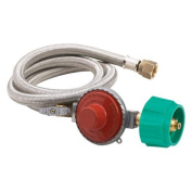 Bayou Classics 120cm . Stainless Steel Braided Hose with Regulator - 20 psi