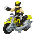 Playskool Heroes Marvel Super Hero Adventures Wolverine Action Figure with Claw Racer Vehicle