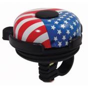 Summit Black Bike Bell w/American Flag