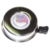 Summit Chrome Bike Bell w/American Flag