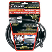 Trimax MAG10SC Combination Cable and Lock 3m X 8Mm