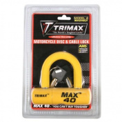 Trimax MAX40YL Multi-Purpose Disc/Cable Lock/U-Lock Yellow