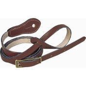 Levy's 1.3cm Deluxe Boot Leather Mandolin Strap Dark Brown