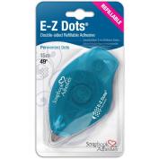 EZ Dots Refillable Dispenser W/Permanent Adhesive 15m-Permanent