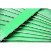 Club Pack of 25 Green Coloured Wooden Straight Edges with Metal Strips - 30cm