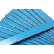 Club Pack of 25 Blue Coloured Wooden Straight Edges with Metal Strips - 30cm