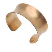 Solid Brass Concave Bracelet Base 25.5mm (1 Inch) Wide - 1 Piece