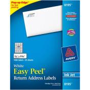 Avery Easy Peel Return Address Labels, Inkjet, 2/3 x 1 3/4, White, 1500/Pack