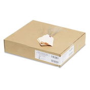 Avery Double Wired Shipping Tags, 13pt. Stock, 4 1/4 x 2 1/8, Manila, 1,000/Box