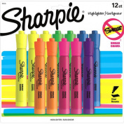 Sharpie Tank-Style Highlighters, Assorted Colours, 12pk