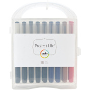 American Crafts Project Life Journaling Pen Set with Storage Case, 18pk